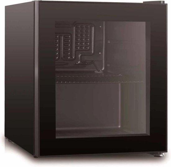 Koelkast: Husky KK50–BKCNS-BK-HU - Mini Koelkast - Glazen deur, van het merk Husky