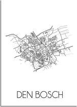 DesignClaud Den Bosch Plattegrond poster A3 poster (29,7x42 cm)