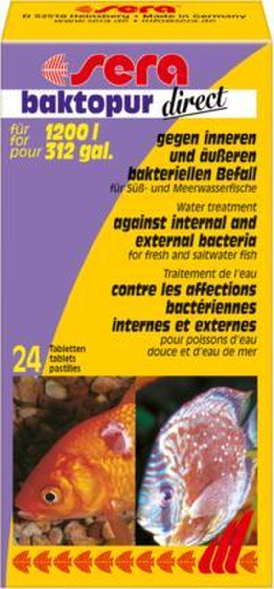 Sera baktopur direct - tegen bacteri le aandoeningen - o.a. vinrot : Inhoud: 24 tabletten (1200 Lite