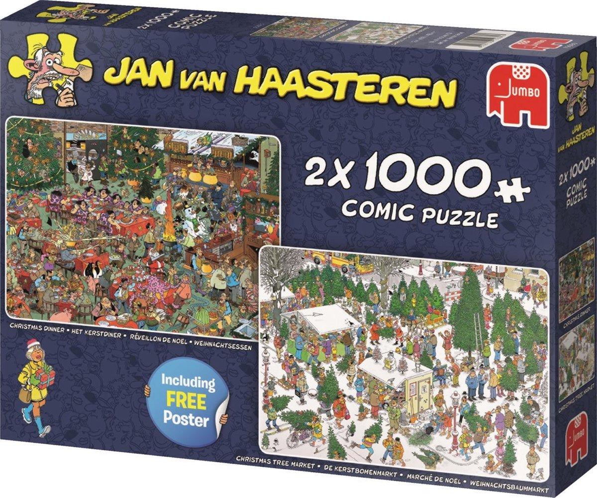 Jan van Haasteren Christmas Gifts puzzel - 2x1000 stukjes