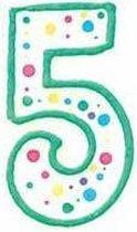 Cijfer / nummer kaarsje - 5 - Wilton