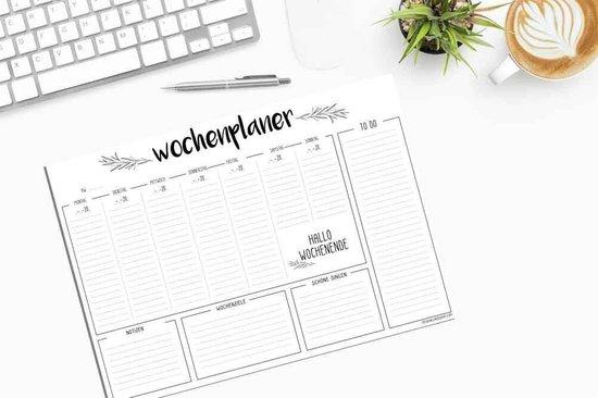 DesignClaud Familieplanner A3 - Week - Zwart wit - designclaud