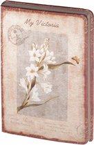 D8024-4 Dreamnotes notitieboek mijn Victoria: witte orchidee 14 x 21 cm