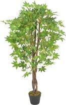 vidaXL Kunstplant met pot esdoorn 120 cm groen