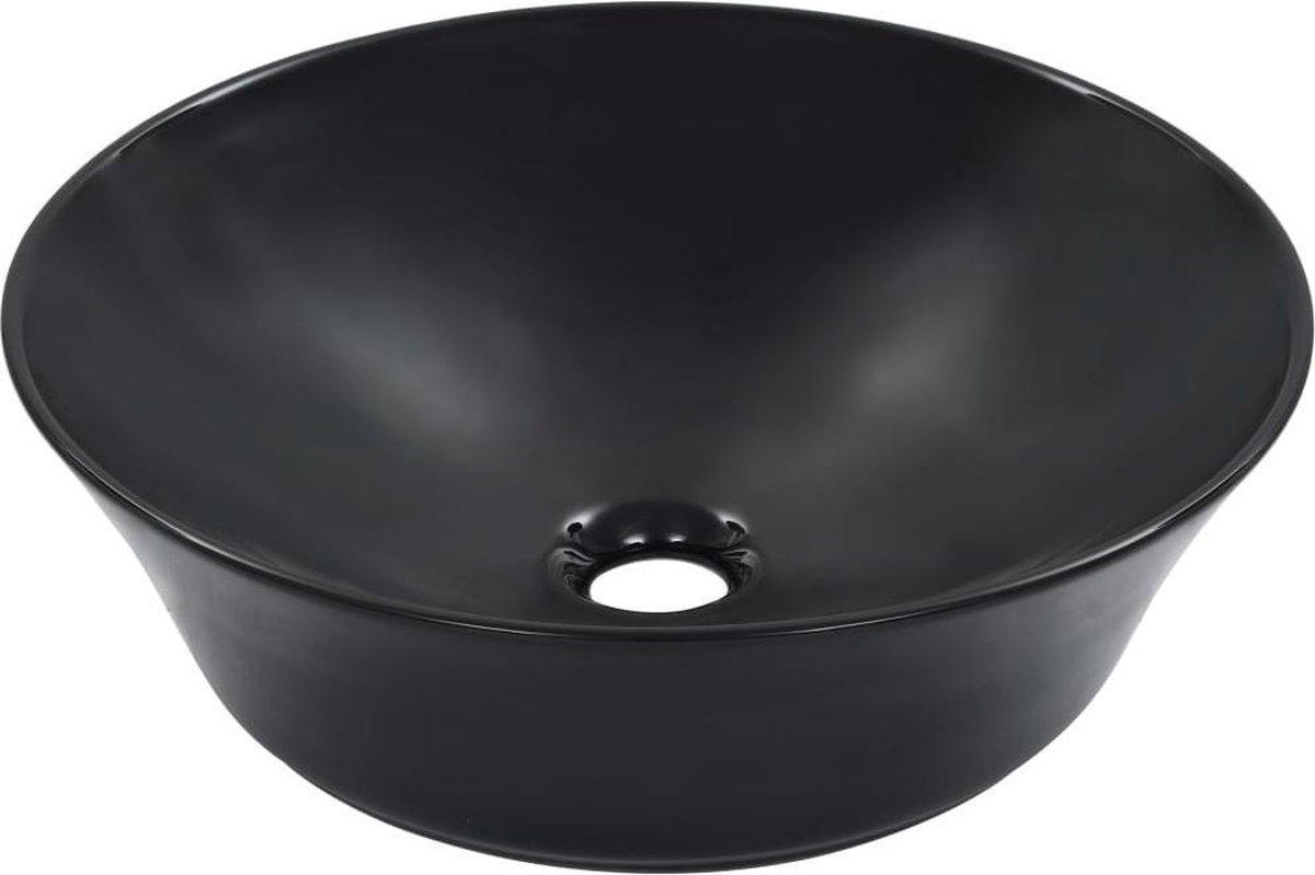 vidaXL Wastafel 41x12,5 cm keramiek zwart