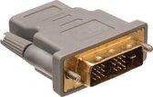 Bandridge DVI-D Single Link (m) - HDMI (v) adapter - Grijs