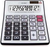 Grote bureau-calculator 12-digits werkend op solar en batterijen