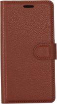 Mobigear Litchi Wallet Book Case Bruin Samsung Galaxy S8