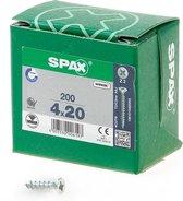 Spax Spaanplaatschroef Verzinkt PK 4.0 x 20 (200)
