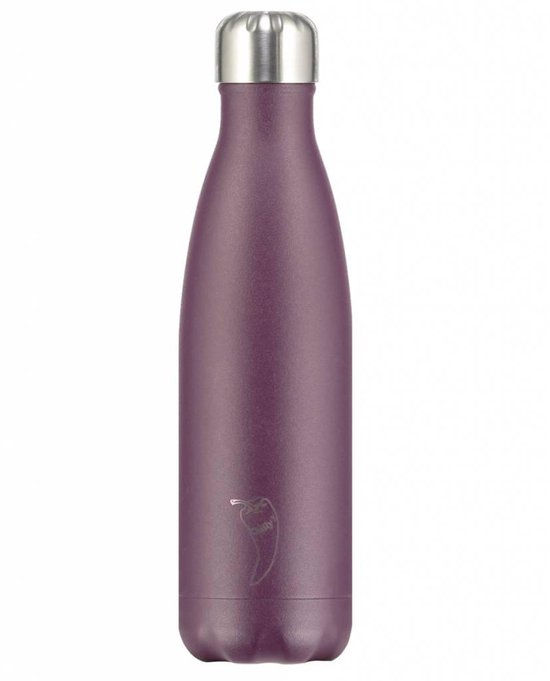 Chilly's Bottle Drink- & Thermosfles Mat Paars - Chilly's