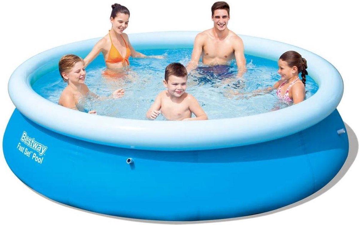 Bestway Fast Set Zwembad opblaasbaar rond 305x76 cm 57266
