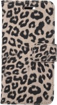 Mobigear Wallet Book Case Leopard Yellow iPhone 7 / 8