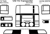 Richter Prewoodec Interieurset passend voor Volkswagen Transporter T5 4/2003-9/2009 14-delig - Aluminium