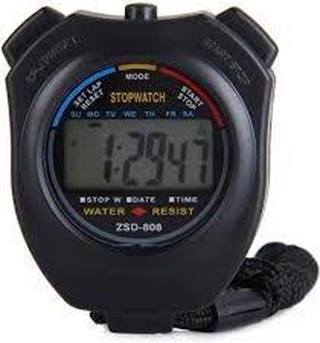 Stopwatch - Grote Display - Zwart (bulk verpakking) - Merkloos