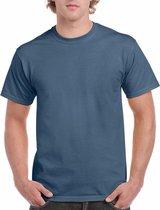 Indigoblauw katoenen shirt voor volwassenen 2XL (44/56)