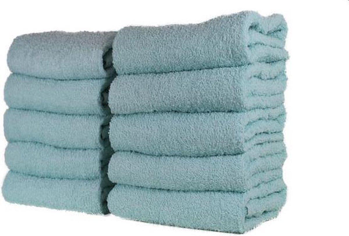 Katoenen Handdoek - badhanddoek - licht aqua - set van 3 stuks - 50x100 cm - Merkloos