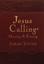 Jesus Calling Morning and Evening, Brown Leathersoft Hardcover, with Scripture references