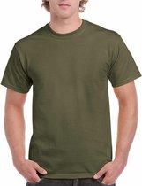 Legergroen katoenen shirt voor volwassenen L (40/52)