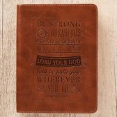 Be Strong & Courageous Brown Flexcover Journal - Joshua 1