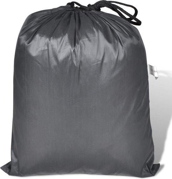 vidaXL - Grijze polyester motorhoes 246 x 105 x 127 cm - vidaXL