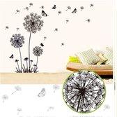 Raamsticker / Muursticker Paardenbloemen & Vlinders