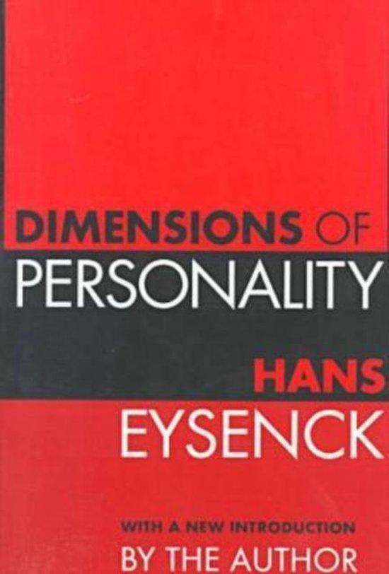 Boek cover Dimensions of Personality van Hans Eysenck (Paperback)