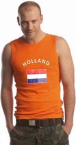 Oranje heren singlet Holland XL