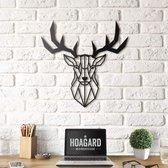 Metalen Hertenkop - Metal Deer Head - Gewei Muur Decoratie - Hoagard | Geometrisch Uniek Ontwerp | Wanddecoratie | Het Leukste Wooncadeau | Perfect Cadeau Idee voor Dierenliefhebbers en Natuurliefhebbers | For Animal Lovers