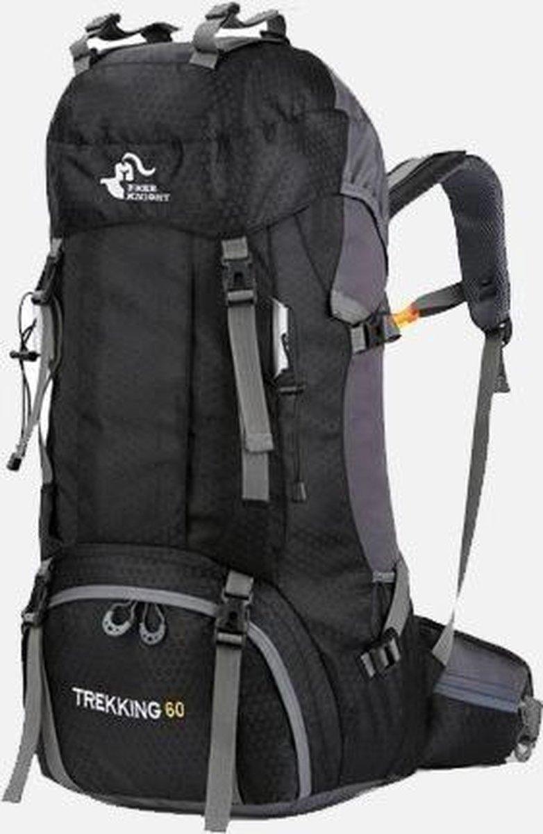 Backpack 60 liter - Travel Rugzak  - Lichtgewicht Zwart