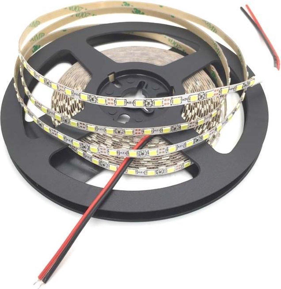 5 meter - Koud Wit - LED strip 120 LEDs per meter - 12 volt - 2835 SMD - dimbaar