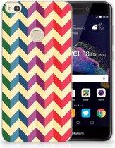 Huawei P8 Lite 2017 Uniek TPU Hoesje Zigzag Color