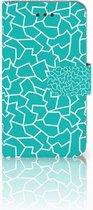 iPhone 6 | 6s hoesje Design Cracks Blue