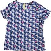 Tommy hilfiger shiny satijnachtige katoenen blouse shirt Maat - 104