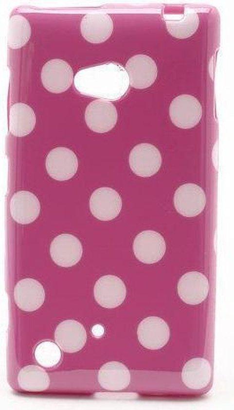 Dots silicone case hoesje Nokia Lumia 720 doker roze