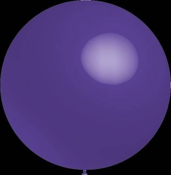 3 stuks Mega grote paarse ballonnen 90 cm