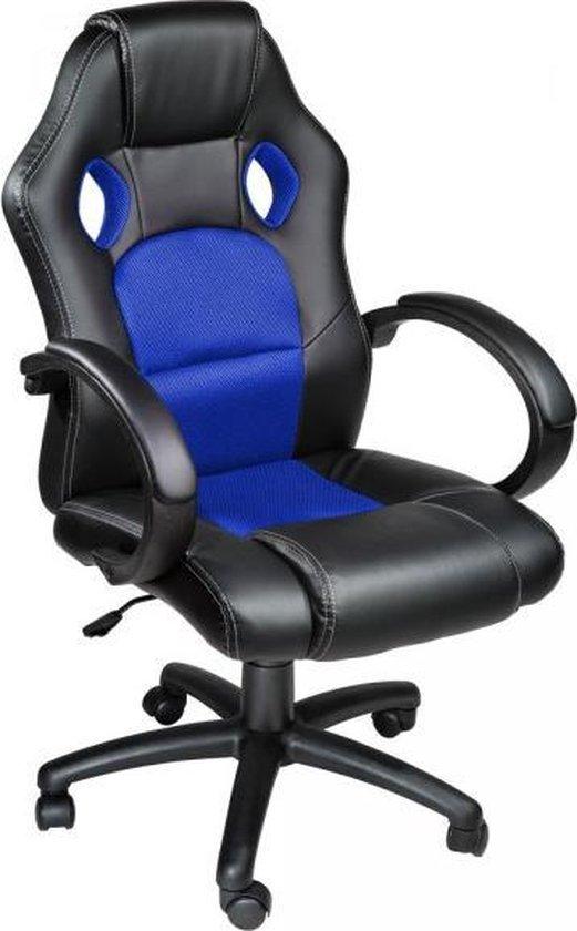 Mooie Stevige Bureaustoel.Bol Com Tectake Luxe Design Racing Bureaustoel Blauw Zwart
