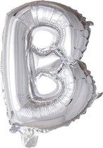 letterballon - 100 cm - zilver - B