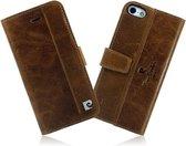 Pierre Cardin Echt Leer wallet boekcase hoesje voor iPhone 6 Plus / 6S Plus Bruin