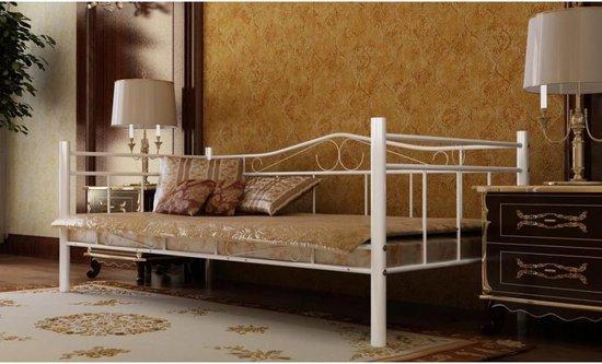 Bedbank Met Binnenvering.Bol Com Vidaxl Metalen Bed 90 X 200 Cm Met Matras Wit