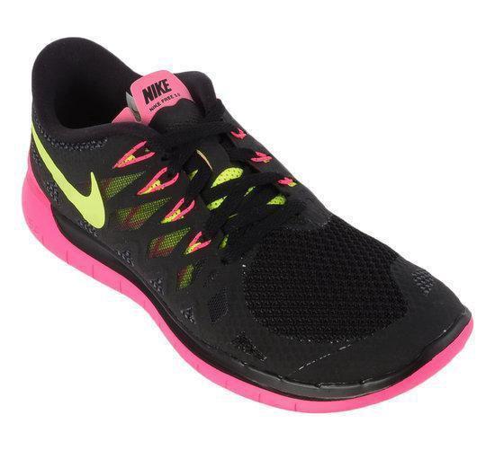 Nike Free 5.0 Hardloopschoenen Barefoot Vrouwen 35.5 Zwart;Roze;Geel