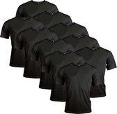 Functioneel Sportshirt - Zwart - Polyester - Maat M - 10 stuks