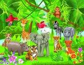 Vliesfotobehang Fotobehang 5 Banen, Jungle Dieren (Kids) Art.16085