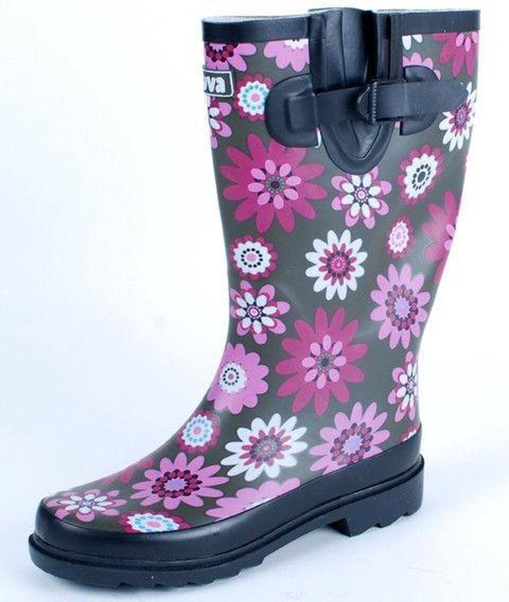 | Gevavi Boots Jade dameslaars rubber rozebruin