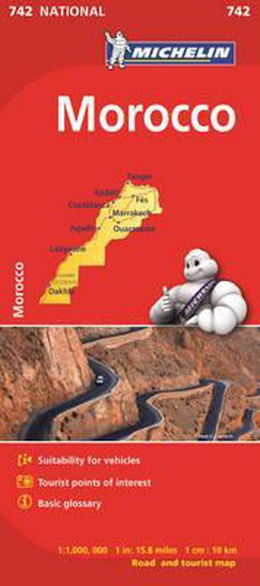 Michelin Map Africa Morocco 742