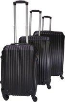 3 delige bagage koffer 4 wielen trolley - Zwart