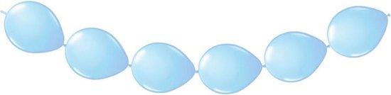 20 doorknoop ballonnen blauw