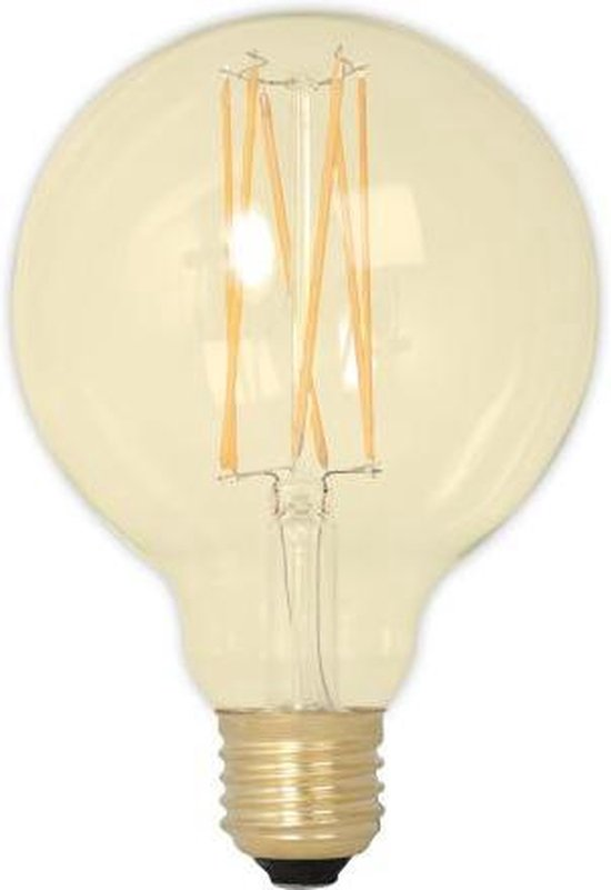 Bol Com Calex Led Lamp Globe 4w 30w E27 Gold 320lm Dimbaar 95mm X 140mm 3 Stuks