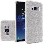 Samsung Galaxy S8 Plus Hoesje - Glitter Backcover - Zilver