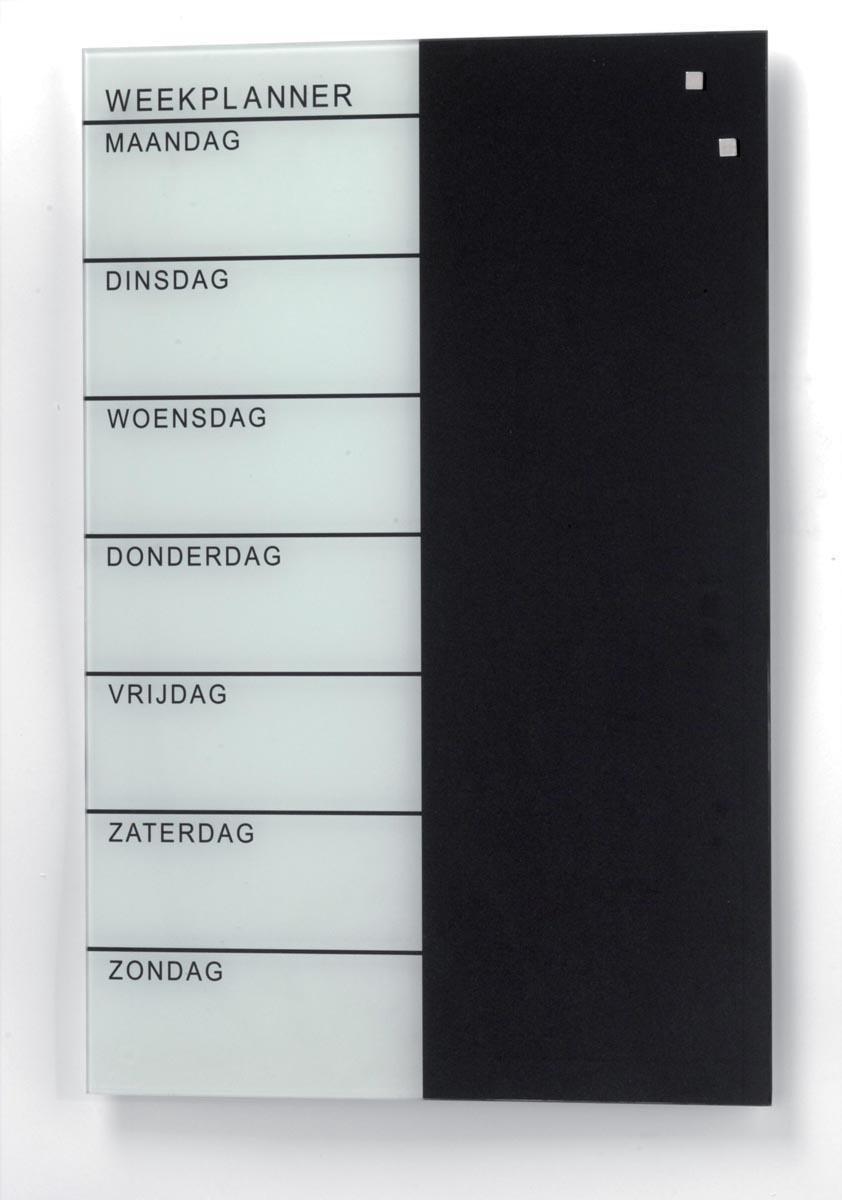 Magnet weekplanner 40 x 60 cm - Nederlands
