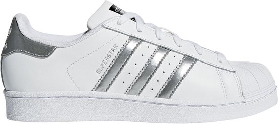 adidas superstar dames wit met zilver